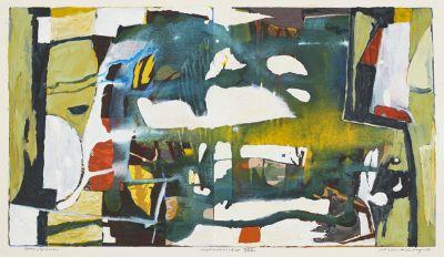 Niklas Anderberg 2018 - Ingenmansland XXV - gouache - 39x69 cm